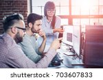 developing programming and... | Shutterstock . vector #703607833