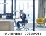 young entrepreneur freelancer... | Shutterstock . vector #703609066