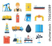 oil industry icon. petroleum... | Shutterstock .eps vector #703610089