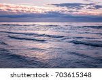 sea waves and beautiful magical ... | Shutterstock . vector #703615348