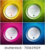 abstract vector banners set of... | Shutterstock .eps vector #703619029