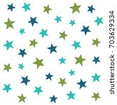 abstract stars  seamless vector ... | Shutterstock .eps vector #703629334