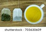 cup of tea with tea bags | Shutterstock . vector #703630609