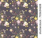 flowers pattern. seamless... | Shutterstock .eps vector #703634608