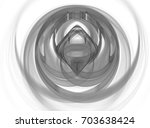monochrome abstract fractal... | Shutterstock . vector #703638424