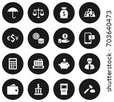 set of 16 budget icons set... | Shutterstock .eps vector #703640473