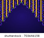 hanging colorful lights and... | Shutterstock .eps vector #703646158