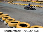 Small photo of Go kart speed rive indor race opposition race