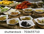 salad bar | Shutterstock . vector #703655710