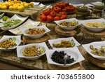 salad bar | Shutterstock . vector #703655800