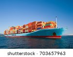 nakhodka. russia   august 22 ... | Shutterstock . vector #703657963