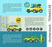 electric car  eco friendly... | Shutterstock .eps vector #703660138