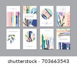 set of creative universal... | Shutterstock .eps vector #703663543