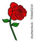 popular rose. red buds and... | Shutterstock .eps vector #703665214