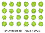 trees top view. different... | Shutterstock .eps vector #703671928