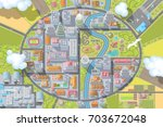 vector illustration. landscape. ... | Shutterstock .eps vector #703672048