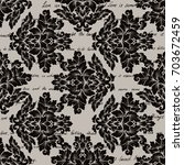 damask seamless pattern with... | Shutterstock . vector #703672459