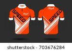 cycle jersey.cycling shirt... | Shutterstock .eps vector #703676284