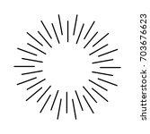 sun rays hand drawn | Shutterstock .eps vector #703676623