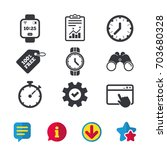 smart watch icons. mechanical... | Shutterstock .eps vector #703680328