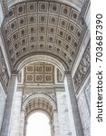 arch triumph in paris | Shutterstock . vector #703687390