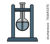 flask for chemistry lab | Shutterstock .eps vector #703692370