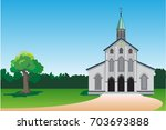 church icon. vector... | Shutterstock .eps vector #703693888