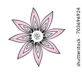 beautiful flower ornament   Shutterstock .eps vector #703696924