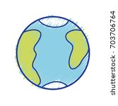 global earth planet with...   Shutterstock .eps vector #703706764