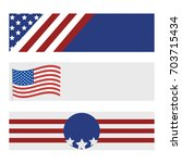 set of modern usa banners.... | Shutterstock .eps vector #703715434
