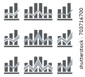 abstract growing graph icon. | Shutterstock .eps vector #703716700