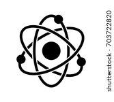 atom icon  iconic symbol  on... | Shutterstock .eps vector #703722820