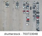aerial view of car parking top... | Shutterstock . vector #703723048