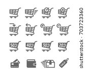 simple set of shopping cart... | Shutterstock .eps vector #703723360