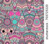 seamless mandalas pattern....   Shutterstock .eps vector #703725220