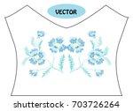 decorative cornflowers in... | Shutterstock .eps vector #703726264