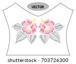 decorative hibiscus flowers in...   Shutterstock .eps vector #703726300