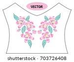decorative cherry blossom...   Shutterstock .eps vector #703726408