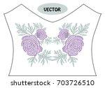 decorative ranunculus flowers... | Shutterstock .eps vector #703726510
