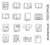 simple set of book related... | Shutterstock .eps vector #703729528