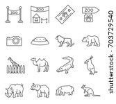 simple set of zoo related... | Shutterstock .eps vector #703729540