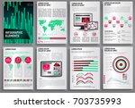 abstract vector business... | Shutterstock .eps vector #703735993
