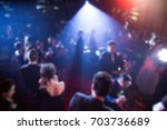 disfocus of the award ceremony... | Shutterstock . vector #703736689