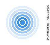 radar screen concentric circle. ... | Shutterstock .eps vector #703738408