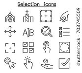 selection icon set in thin line ... | Shutterstock .eps vector #703745509