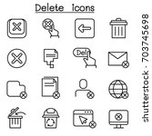 delete icon in thin line style | Shutterstock .eps vector #703745698