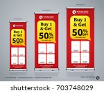 roll up brochure flyer banner... | Shutterstock .eps vector #703748029