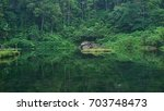 natural fish pond in the jungle | Shutterstock . vector #703748473