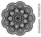mandalas for coloring book.... | Shutterstock .eps vector #703749274