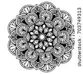 mandalas for coloring book....   Shutterstock .eps vector #703749313